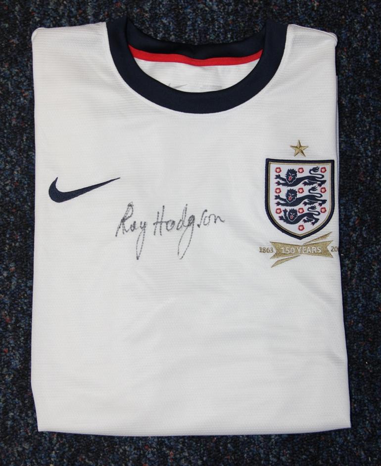 Roy Hodgson signed England shirt