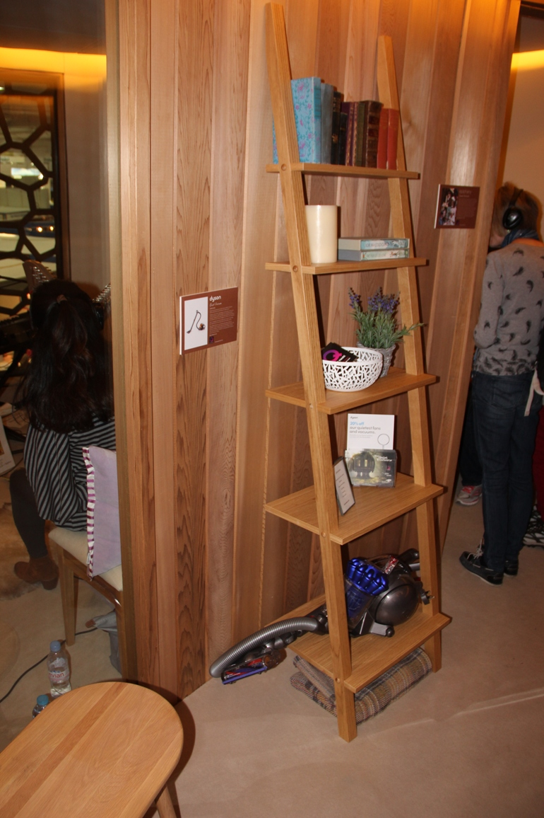 Shelving in the QuietMark Treehouse