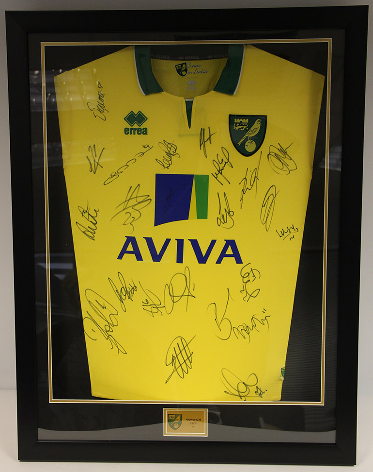 Click here to bid on the Signed Norwich City FC Shirt