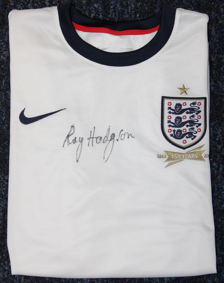 Click here to bid on the Roy Hodgson Signed England Shirt