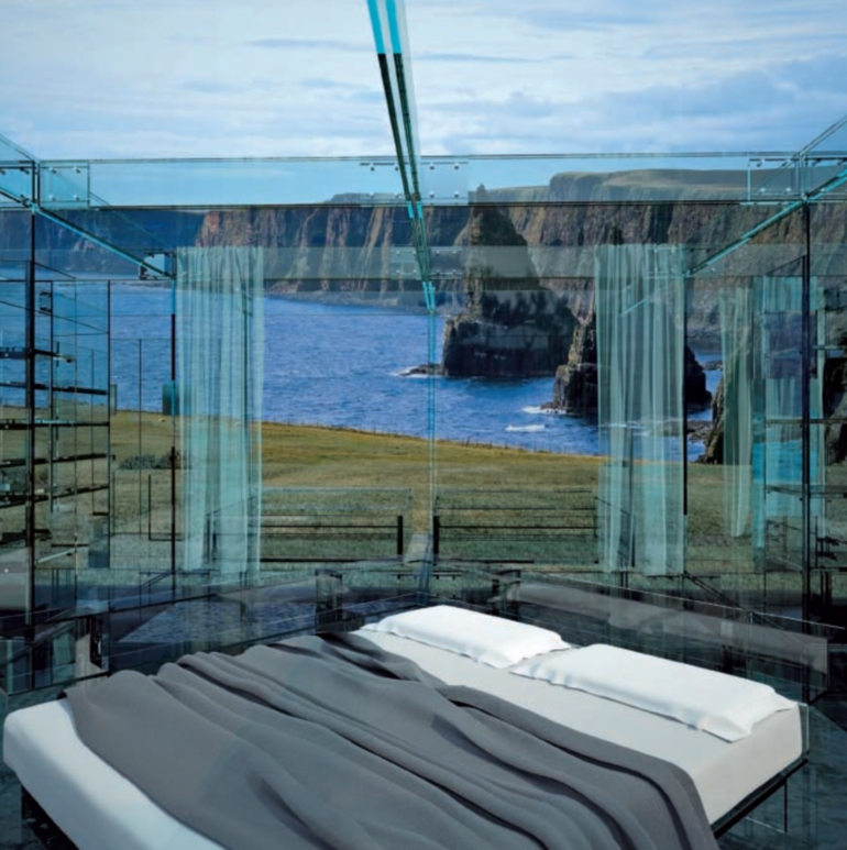 Glass house on Cliff bedroom