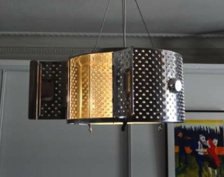 Washing machine drum lamp shade
