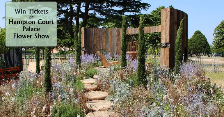 Who won tickets to Hampton Court Palace Flower Show?
