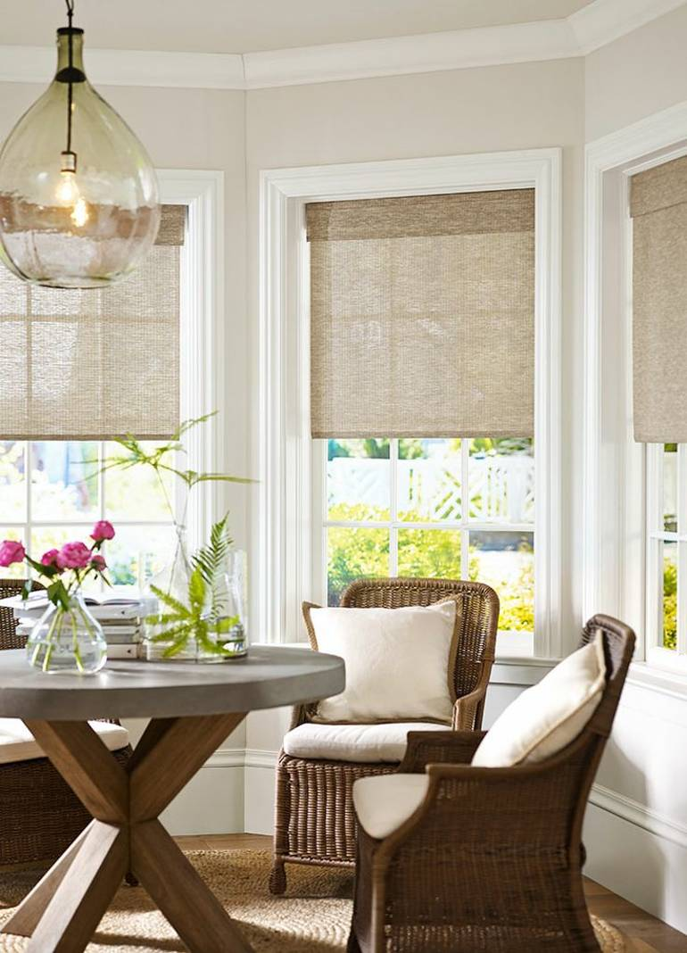 living room bay window treatments 8 easy steps to match blinds and curtains to your room 20009