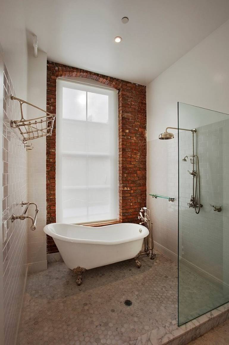 Brick Wall Bathroom
