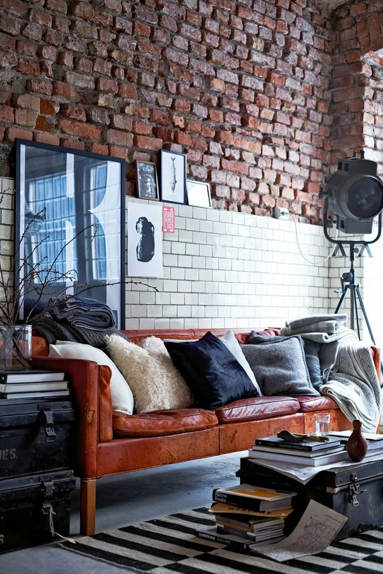 Living Room Brick Walls