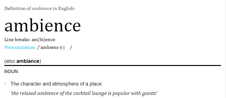 definition of ambience