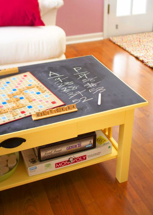 Chalkboard coffee table - tumblr
