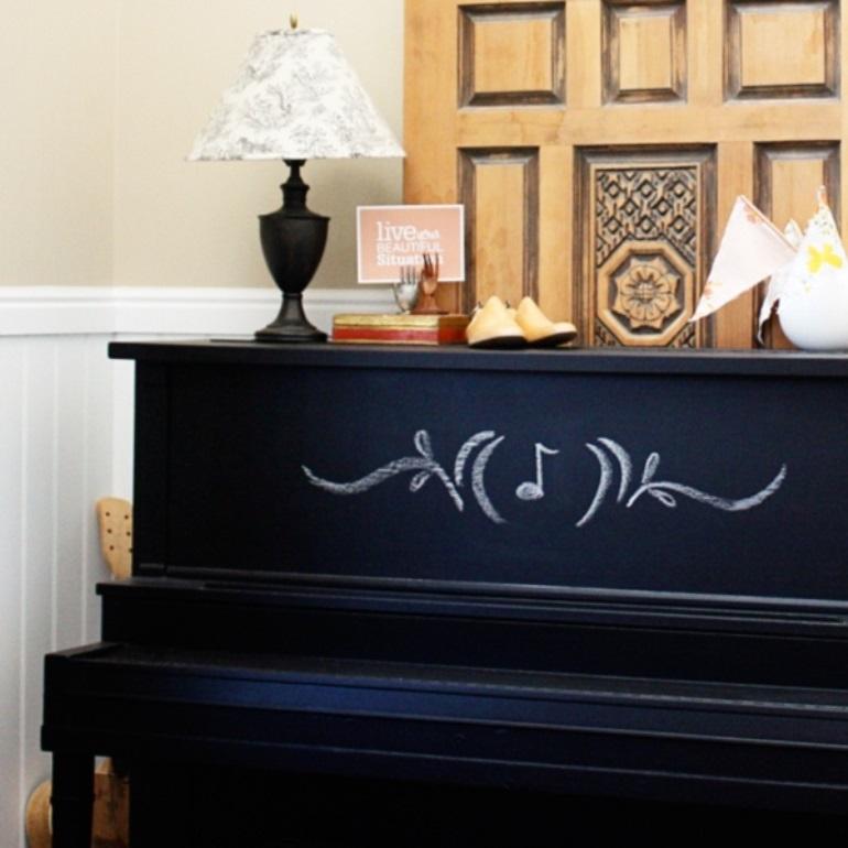 Chalkboard piano - Please sir