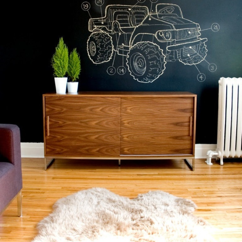 Chalkboard wall - Pinterest