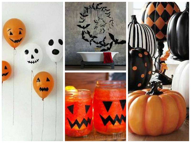 44 halloween decorations you can make for under 5 each for Halloween decorations you can make at home