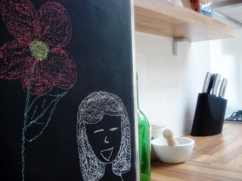 Kitchen notice blackboard