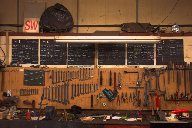 Tool blackboard Gary Englefield