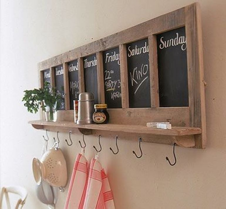 Upcycled blackboard from Pinterest
