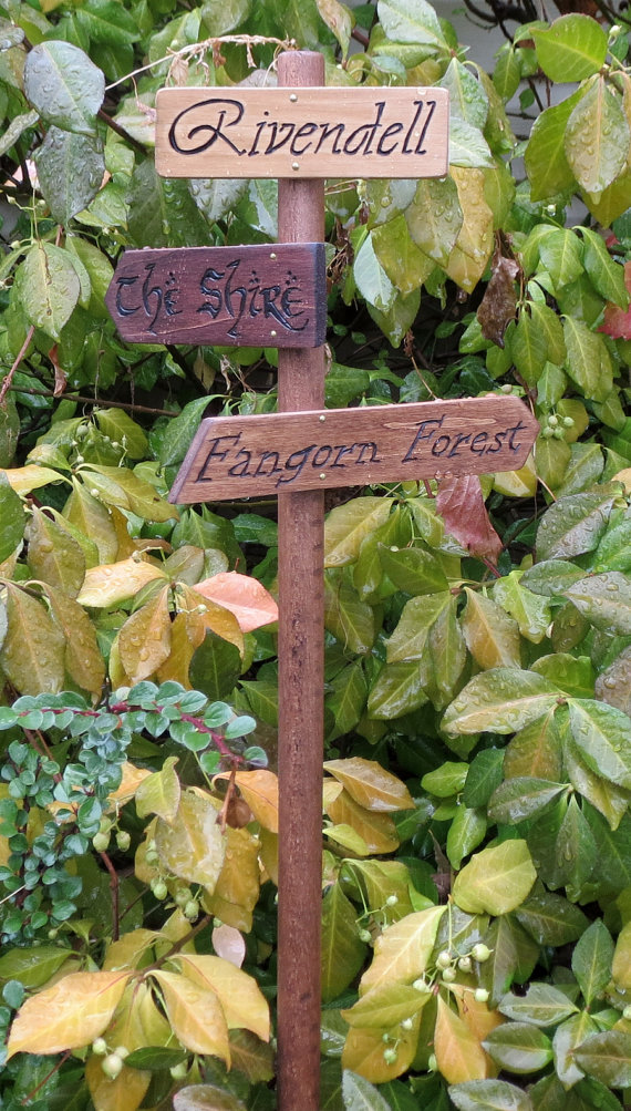 Lord of the Rings Garden Sign