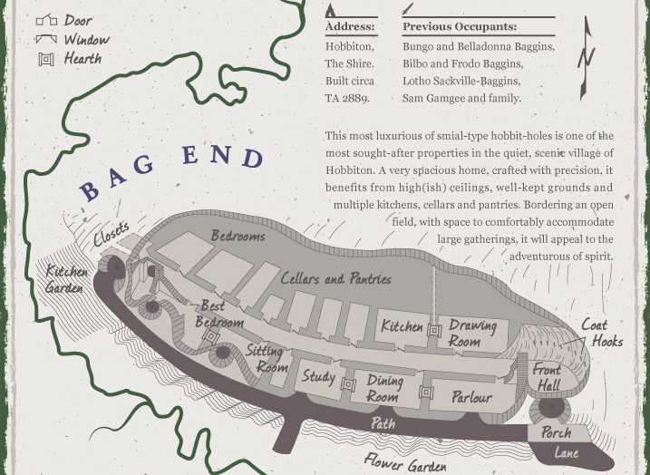 An excerpt from The Homes of Middle-earth Infographic