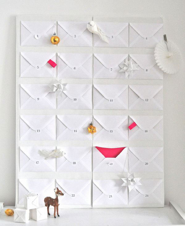 Handmade advent calendar.