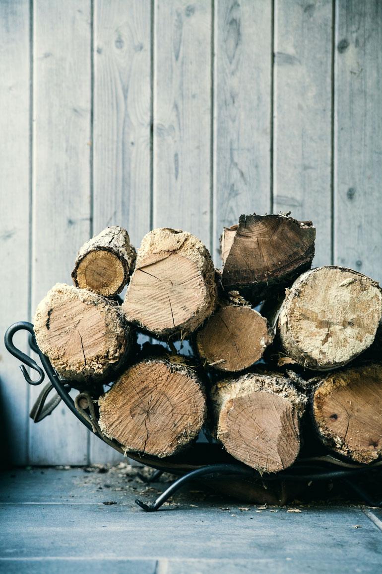 Log pile.