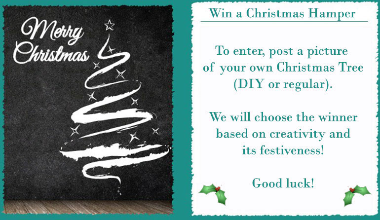 Win a Christmas Hamper by Designing your own Christmas Tree!