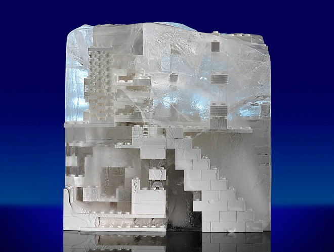 LEGO architecture in ice