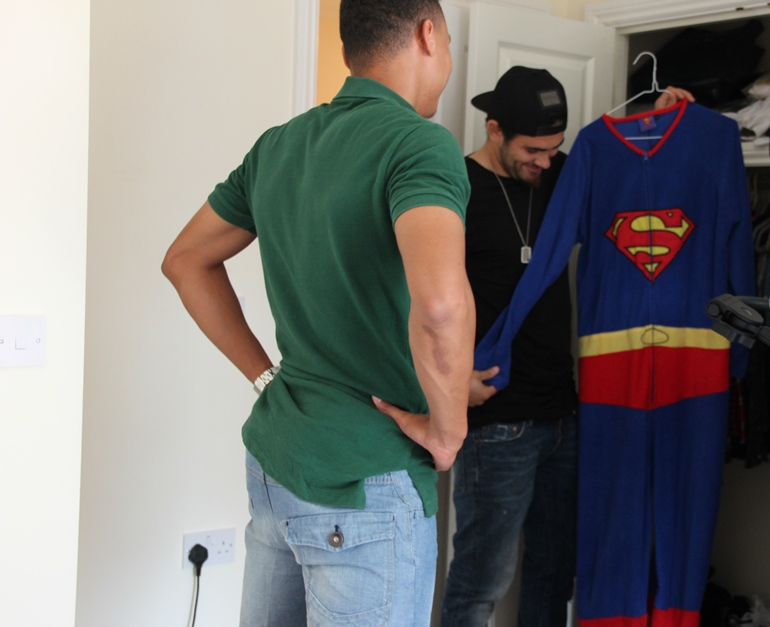 Jacob Brad & the Superman onesie