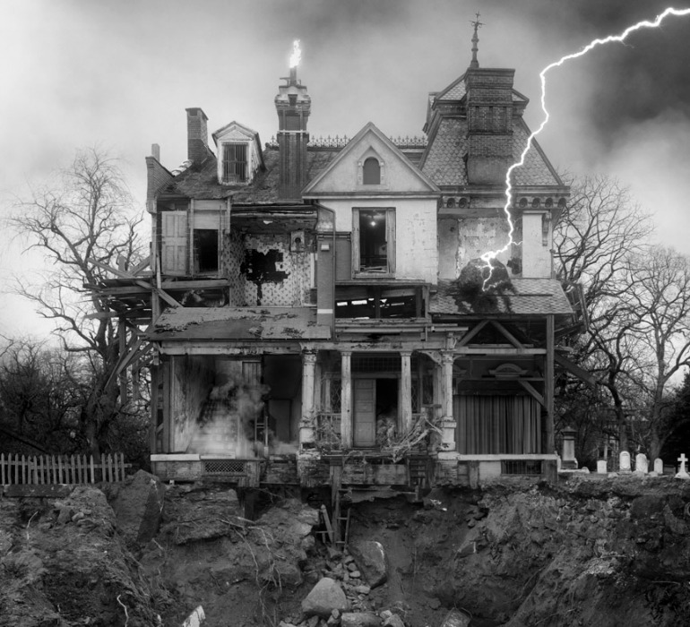 Jim Kazanjian's photo collages are created using up to 70 different images