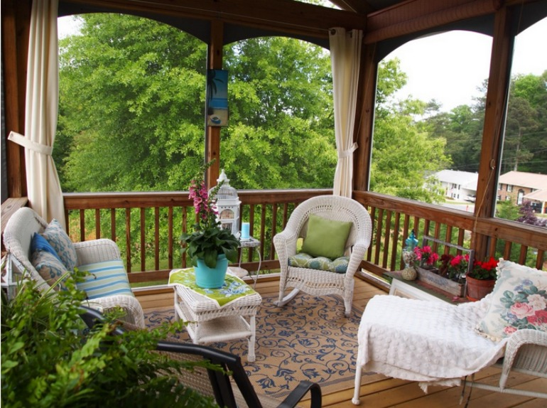 If you have the space a porch can be great place to sit out on in the summer months. See a selection of great porch designs on Good To Be Home