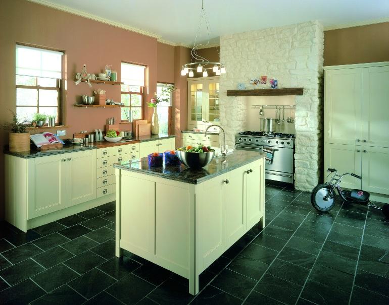 Landlarks kitchen design with tiled flooring