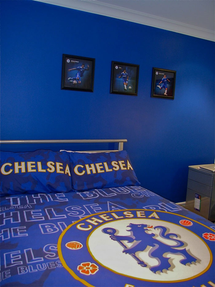 How to make turn your kid's bedroom into a footballer's mansion, from Good to be Home.