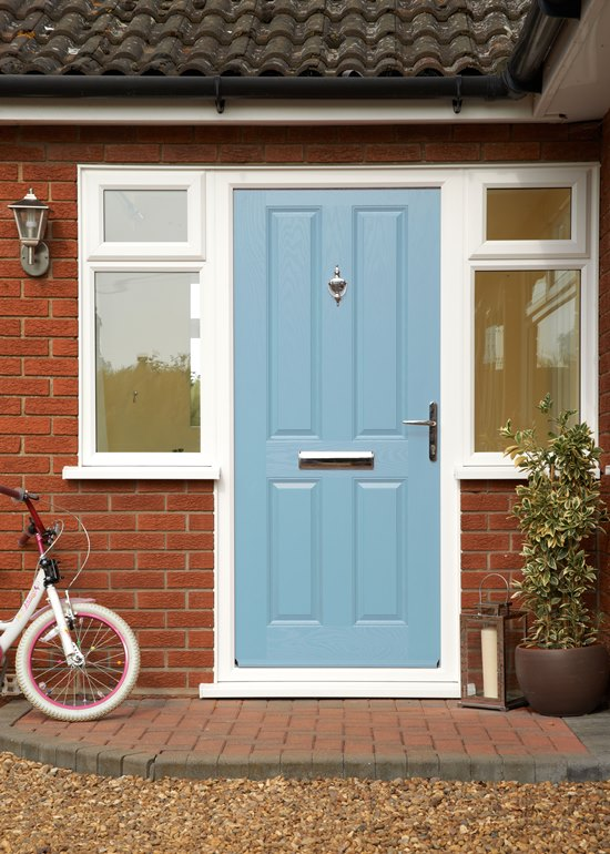 Duck Egg Blue front door