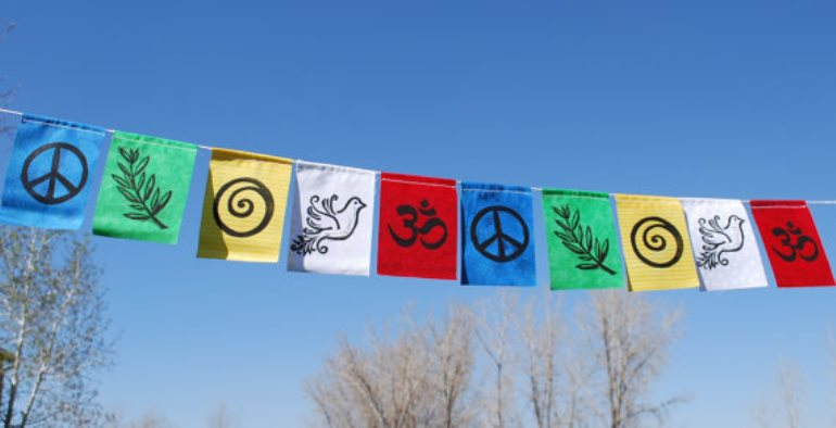 Tibetan Peace Flags