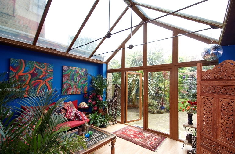 Conservatory with lots of plants