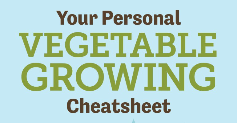 Introducing Your Personalised Vegetable Growing Cheat Sheet