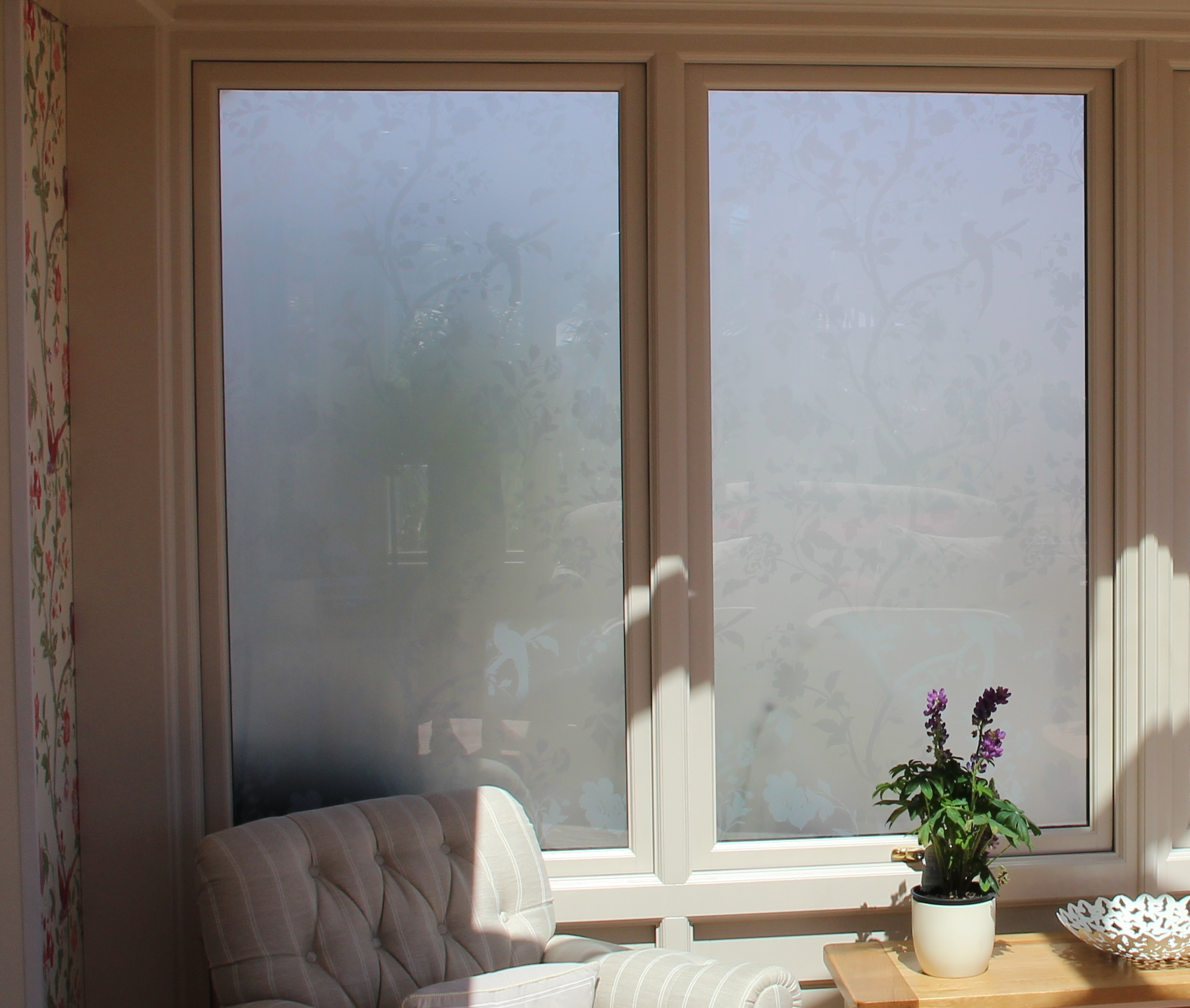 Laura Ashley glass in an Anglian Conservatory