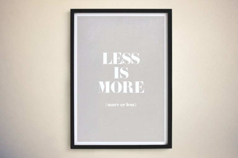 Less is more Flickr