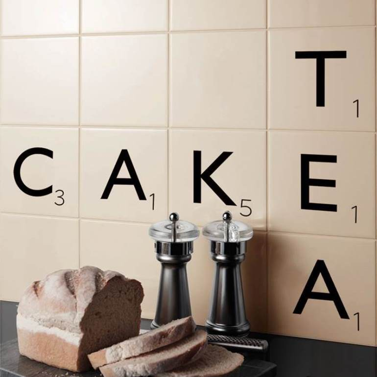 Scrabble wall tile kitchensourcebook
