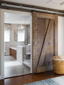 Sliding farm doors are a great way to add character to a new build. Learn more at Good to be Home