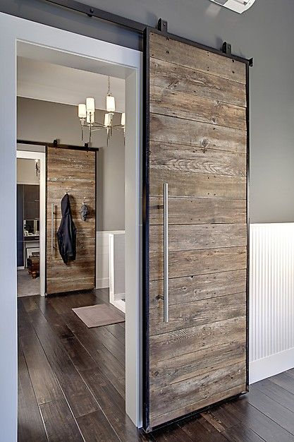 Sliding Barn Doors. Discover more inspiration door ideas at Good to be Home
