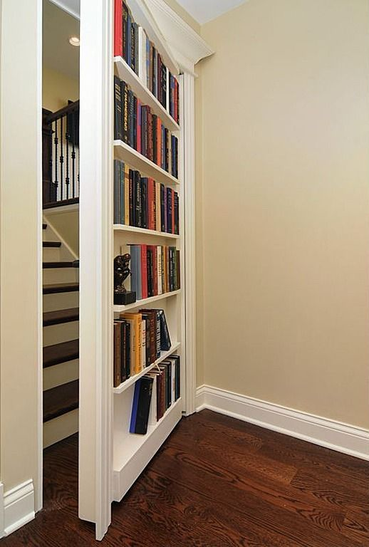 A hidden door. Find more inspirational door ideas at Good to be Home