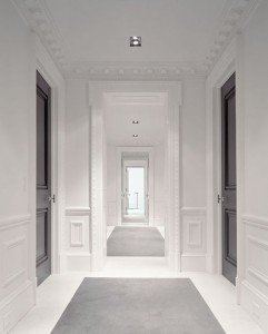 Hallway with moulding; a great way to add moulding to your home. Find more ways here