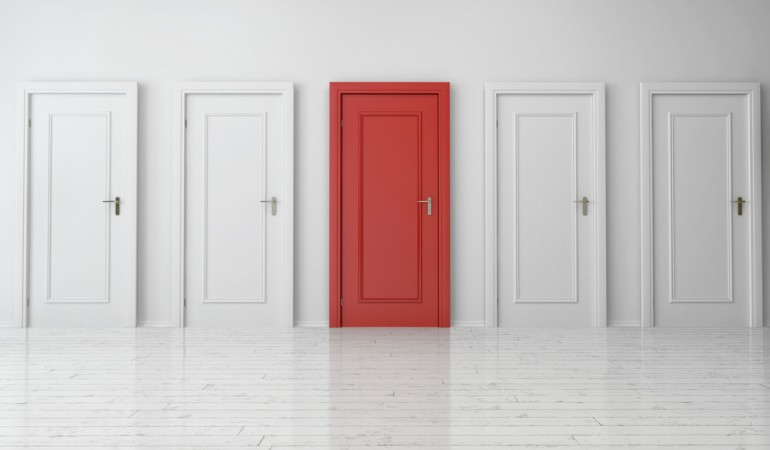 6 inspirational ways to make your white interior doors less boring