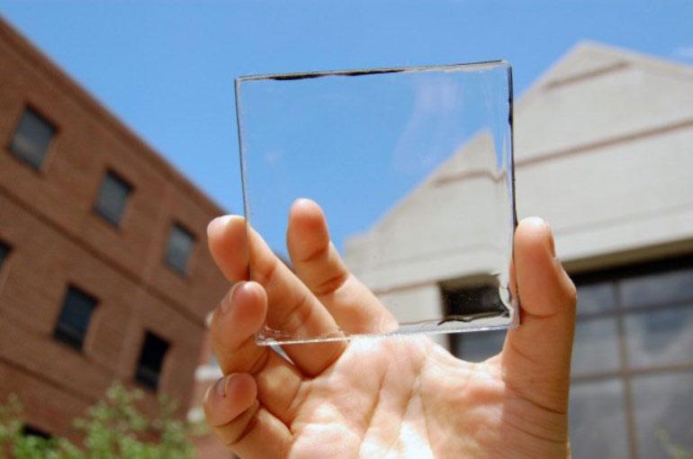 Transparent luminescent solar glass