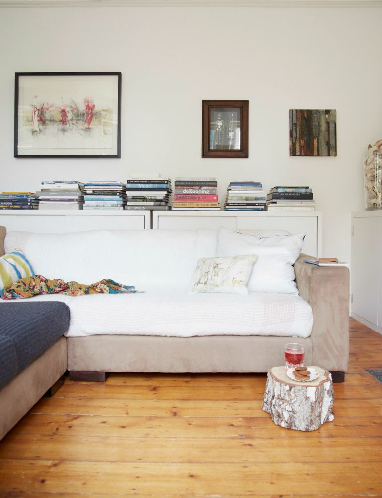 Cosy layered sofa, as seen in Home for Now by Joanna Thornhill