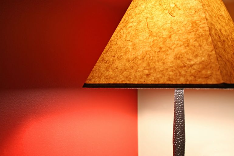 Lamp providing warm,cosy lighting at home
