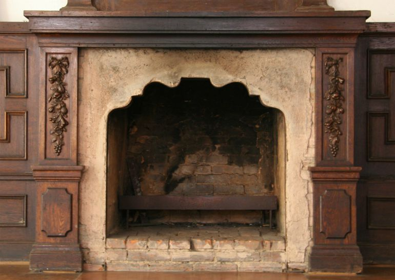Old fireplace letting in a draught