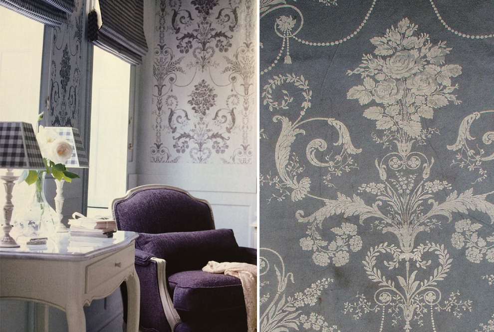 The History Of Laura Ashleys Damask Designs Tatton Annecy - Laura ashley grey living room