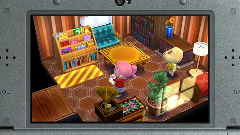 Interior design in Animal Crossing