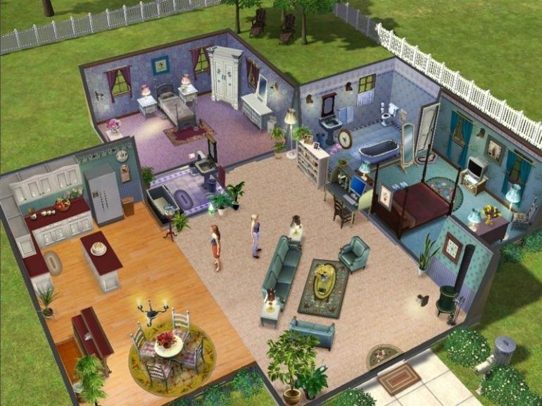 Interior design in The Sims