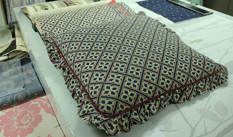 Mr Jones cushion design