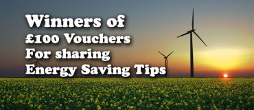 Energy Saving Tip Competition Winners